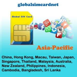 China/Asia Pacific Area1 WIFI SIM CARD @4G/LTE
