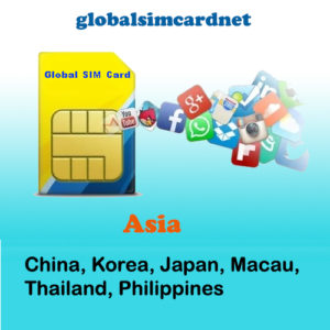 CHINA/KOREA/ASIA AREA2 WIFI SIM CARD @4G/LTE